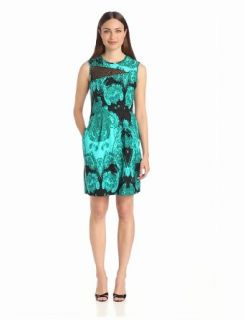 Nanette Lepore Women's La Seine Dress, Turquoise Multi, 10 at  Women�s Clothing store