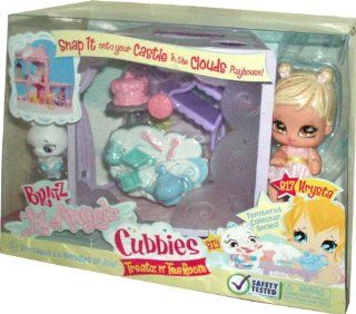 Bratz Lil Angelz Numbered Collector Series Cubbies Treatz n' Tea Room Set with Krysta (# 817), White Ballerina Pig (# 819), Cubbies, Food Cart, Cake with Stand, Teapot, Sugar Container, 2 Cups and 2 Teaspoons: Toys & Games