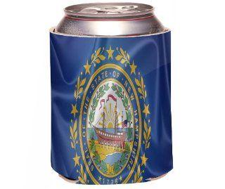 Rikki KnightTM New Hampshire State Flag Design Drinks Cooler Neoprene Koozie Kitchen & Dining