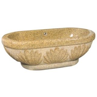 The Allstone Group 72 Inch Double Ended Granite Freestanding Tub   Mojave Gold   Freestanding Tubs