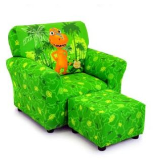 Kidz World Dinosaur Train   Buddy Green Club Chair and Ottoman Set