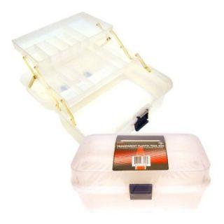 Trademark Global Folding Transparent Plastic Tool Box   Tool Boxes