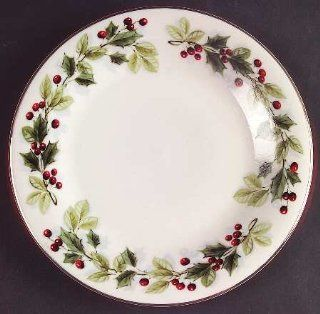 Gibson Designs Holiday Classics Salad Plate, Fine China Dinnerware: Kitchen & Dining
