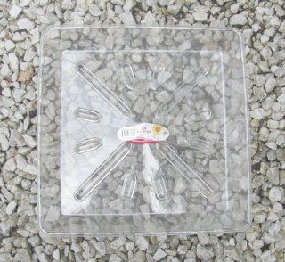 "Marchioro ""Naica 35"" (18) Square Clear Plastic Plant Water Drip Pans, 13 3/4"" x 13 3/4""  Other Products"