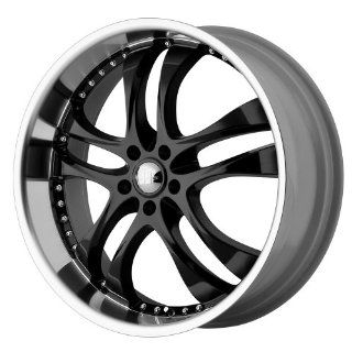 "Helo HE825 Gloss Black Machined Wheel   (20x8.5""/5x4.5"") Automotive"