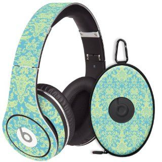 Vintage Blue Green Damask Decal Skin for Beats Studio Headphones & Carrying Case by Dr. Dre: Electronics