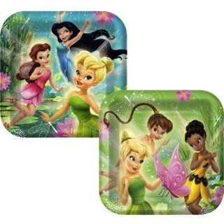 Disney Fairies Tinkerbell Party Square Dinner Plates Toys & Games