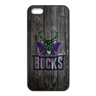 Custom Milwaukee Bucks Wood Back Cover Case for iPhone 5 5S LL5S 831: Cell Phones & Accessories