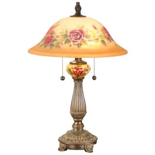 Dale Tiffany Rose Porcelain Table Lamp   Table Lamps