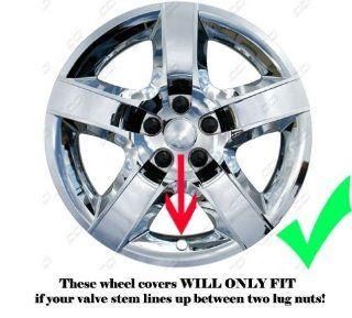 "2008, 2009, 2010, 2011, 2012 Chevy Malibu Chrome Factory Replica Wheel Covers / Hubcaps (Set of 4)   17"" Automotive"