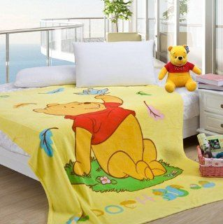 2013 Adorable Pooh Bear Fleece Blanket Coral Fleece Soft Blankets 150cmx200cm   Bed Blankets