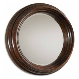 Uttermost Cristiano Thick Framed Round Wall Mirror   40 diam. in.   Wall Mirrors