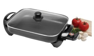 Maxi Matic Elite Gourmet 15 in. Electric Skillet with Glass Lid   Electric Skillets