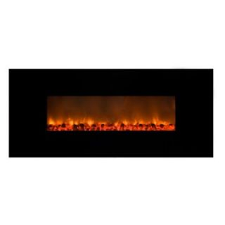 Yosemite Home Decor Carbon Flame 58 Wall Mount Electric Fireplace   Electric Fireplaces