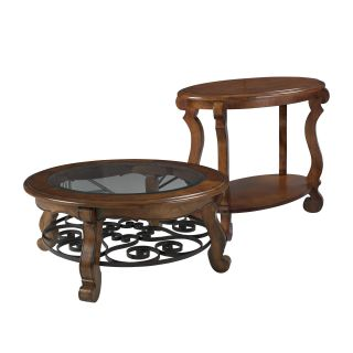 Hammary Siena Round 2 Piece Glass Top Coffee Table Set   Coffee Table Sets