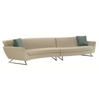 Lazar Lugano Upholstered Sectional Sofa with Accent Pillows   Sectional Sofas