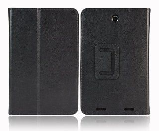 JKase Ultra Slim Series Custom Fit Folio Leather Case Cover with 3 in 1 Built in Stand Leather Case for Lenovo A2107 7 Inch Tablet (Black) Computers & Accessories