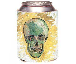 Rikki KnightTM Van Gogh Art Skull Design Drinks Cooler Neoprene Koozie Cold Beverage Koozies Kitchen & Dining