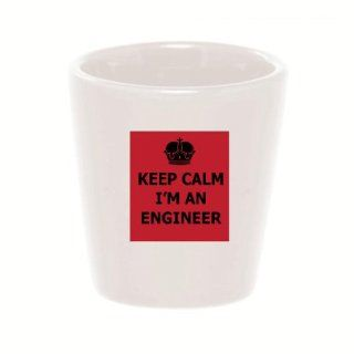 Mashed Mugs   Keep Calm I'm An Engineer   Ceramic Shot Glass Kitchen & Dining