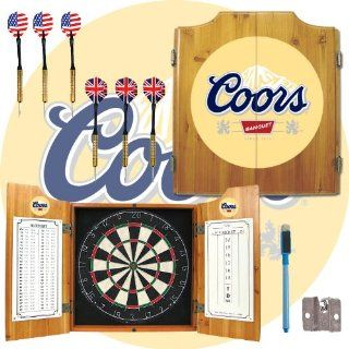 Coors Banquet Dart Cabinet includes Darts and Board   Game Room Products Dart Cabinets Beer Logos: Everything Else