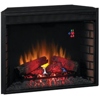 Classic Flame 28 in. Electric Fireplace Insert with Backlit Display   Electric Inserts