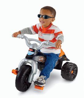 Fisher Price Harley Tough Trike Big Wheel Riding Toy   Tricycles & Bikes
