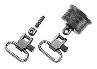 Uncle Mike's Quick Detach Rem 870 Exp 20 Gage Internal Ratchet Cap Set Sling Swivels (Blued, 1 Inch)  Gun Slings  Sports & Outdoors