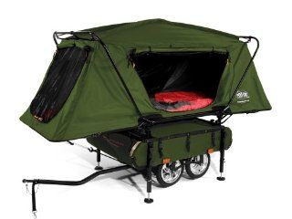 Kamp Rite Midget Bushtrekka Bicycle Camper Trailer with Oversize Tent Cot  Camping Cots  Sports & Outdoors