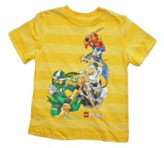 Lego Ninjago Boys Character T Shirt (8, Yellow) Fashion T Shirts Clothing
