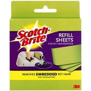 12 Pack Of 3m Scotch Fur Fighter 849rf 8 Hair Remover Refill, 8 sheet (96 sheet In Total) : Pet Hair Removers : Home Improvement