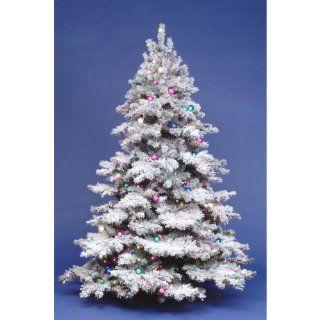 7.5 ft. Flocked Alaskan Full Pre lit Christmas Tree