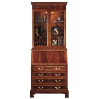 Jasper Cabinet 880 02 Sterling Drawer Secretary Desk with Drawers and Hutch   Home Office Desks
