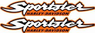 Harley Davidson Sportster 883 1200 Decals Stickers Bobber Graphics HD Gas Tank MOtorcycle Orange: Everything Else