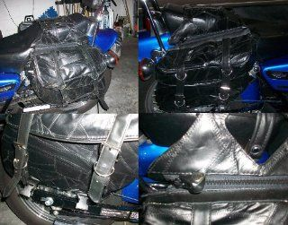 Motorcycle Honda Rebel Saddle Bags with Brackets 100% Genuine Buffalo Leather