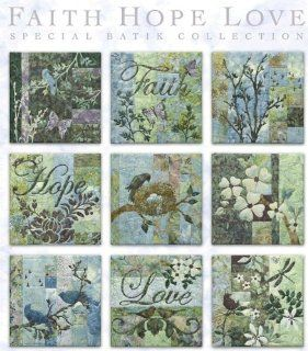 McKenna Ryan Pine Needles Faith Love Hope Quilt Pattern Set of 9