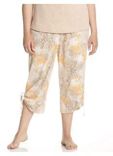 Lane Bryant Plus Size Animal print cropped sleep pant     Womens Size 14/16,