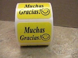 1000 .875x1.25 Muchas Gracias Mailing Labels Stickers : Office Products