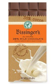 Bissinger's Chocolate Rainforest Bars (38% Milk Chocolate) : Candy And Chocolate Bars : Grocery & Gourmet Food