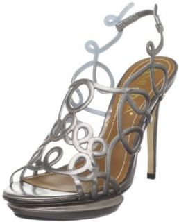 Amiana Women's 12 2270/6 Strappy Sandal,Chumbo (Pewter),5 M US Shoes