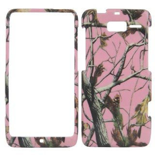 Motorola Droid Razr M XT907   Camo Camouflage Pink Matte Finish Hard Plastic Cover, Case, Easy Snap On, Faceplate.: Cell Phones & Accessories