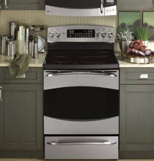 "General Electric Profile PB909SPSS   GE Profile(TM) 30""Free Standing Electric Range: Appliances"
