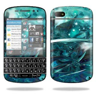 MightySkins Protective Vinyl Skin Decal Cover for BlackBerry Q10 Cell Phone SQN100 3 Sticker Skins Distortion: Electronics