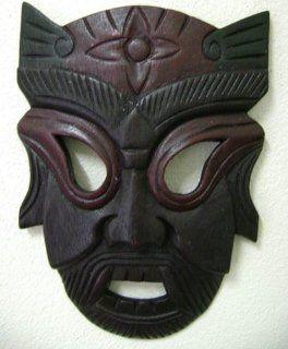 Crazy Face Mask Wood Hand Carved Sculpture Statue  T 2   Decorative Masks