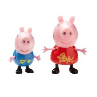 Peppa Pig Theme Park Figures 2 Pack With Peppa & George: Toys & Games