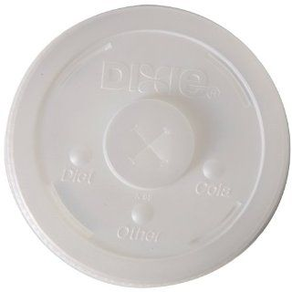 Dixie 928LSRD Long Skirt Raised Dome Lid for 32 oz Paper Cold Cups, with Selector Buttons, Translucent (6 Packs of 100): Industrial & Scientific
