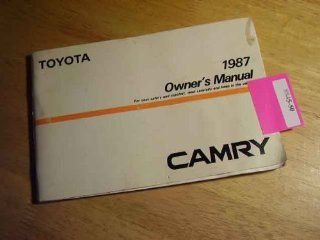 1987 Toyota Camry Owners Manual Toyota Books