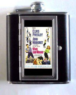 Elvis Presley, Ann Margret Las Vegas, Whiskey and Beverage Flask, ID Holder, Cigarette Case: Holds 5oz Great for the Sports Stadium!: Kitchen & Dining