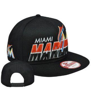 New Era 9Fifty 950 Horizon EMEA MLB Snapback Flat Bill Cap Hat Miami Marlins  Sports Fan Baseball Caps  Sports & Outdoors