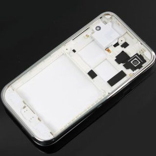 [Aftermarket Product] White+Silver Housing Faceplate Front Bezel Cover Case Panel Fascia Plate Frame+Middle Chassis+Back Battery Cover Door+Buzzer Loudspeaker Loud Speaker FOR Samsung GT i9000 i9000 Galaxy S Cell Phones & Accessories