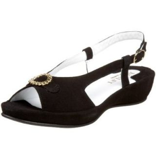 Amalfi by Rangoni Women's Bea Sandal,Black,5 M US: Shoes
